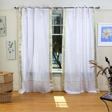 Gold And White Sheer Curtains by Sheer Tie Top Curtains