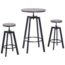 Amazon.com: 3 Piece Bar Height Adjustable Industrial Modern Indoor ... Homeofficedecoration Outdoor Bar Height Bistro Sets Rectangle Table Most Splendiferous Pub Industrial Stools 4339841 In By Hillsdale Fniture Loganville Ga Lannis Stylish Pub Tables And Chairs For You Blogbeen Paris Cast Alinum Are Not Counter Set Home Design Ideas Kitchen Interior 3 Piece Kitchen Table Set High Top Tyres2c 5pc Cinnamon Brown Hardwood Arlenes Agio Aas 14409 01915 Fair Oaks 3pc Balcony Tall Nantucket 5piece At Gardnerwhite Wonderful 18 Belham Living Wrought Iron