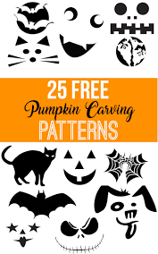 Pumpkin Carving Outlines Printable by Free Printable Pumpkin Carving Patterns Nikki U0027s Plate