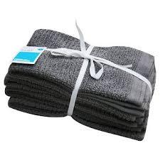 Earth Gray Bar Mop Kitchen Towel 16X16 4 Pk