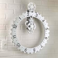 Ideas Kikkerland Big Wheel Revolving Gear Wall Clock The Green Head Intended For Proportions 1000