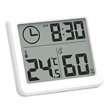 esplic digitales thermometer hygrometer temperatur feuchtigkeits und uhr 3 in 1 recorder für wohnzimmer schlafzimmer arbeitszimmer badezimmer
