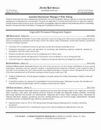 Catering Resume Samples Fresh Retail Assistant Manager