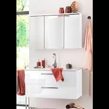 held möbel badmöbel set 2 tlg spiegelschrank breite 100 cm und waschtisch