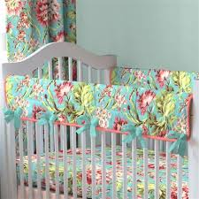 Aqua And Coral Crib Bedding by Coral And Teal Floral Crib Bedding Baby Bedding Carousel