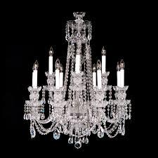 Swarovski Crystal Lamp Finials by 8 4 Medium 12 Light Crystal Chandelier With Swarovski 26
