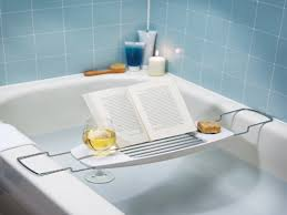 designs impressive bathtub reading caddy images bath caddy with