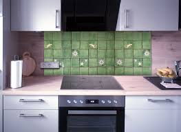 küchenspiegel fliesenset grün weiss 30 fliesen kaufen im