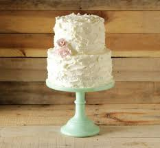 Rustic Buttercream Wedding Cake With Pink Roses