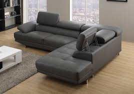 Grey Leather Sectional Living Room Ideas by Outstanding Cool Grey Leather Sectional Sofa With 25 Best Ideas