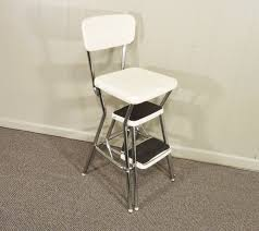 Cosco Retro Chair With Step Stool Black by Vintage Stool Step Stool Kitchen Stool Cosco Chair Vintage Cosco