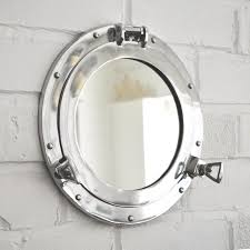 Royal Naval Porthole Mirrored Medicine Cabinet Uk by Aluminium Porthole Mirror Coastalhome Co Uk Coastal Living