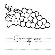 A Learn To Spell Grapes Coloring Page