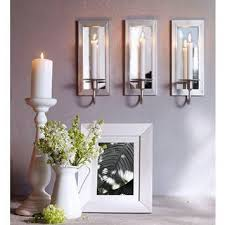mirror candle wall sconces fretwork mirrored sconce within