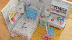Lalaloopsy Bed Set by Diy Miniature Dollhouse Bedroom Youtube