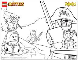 Lego Pirates Battles Coloring Pages