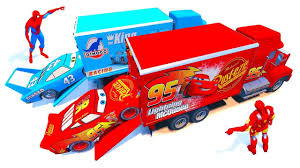 Mack Truck Dinoco Lightning McQueen Transportation With Spiderman ... Mack Anthem Imprses Over The Long Haul Cstruction Equipment Big Truck Trucks Videos And Van Pictures Of At Semitruckgallerycom Disney Pixar Cars Hauler Lightning Mcqueen Connected To A Time Steel Supeority Learn Colors With 3 Tomica Channing Tatum Charms In Visit Greensboro Local News Cars Tv Dvd Player 19 Lcd Todmorden West Disneypixar Playset Walmartcom Worlds Greatest Youtube