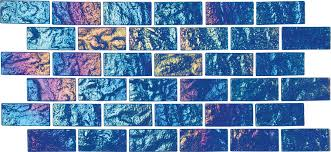 Glow In The Dark Mosaic Pool Tiles by Lightwaves National Pool Tile Group