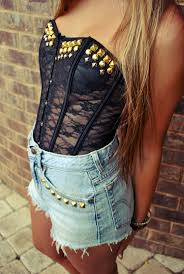 wildhearts hand studded black lace bustier corset top choose your