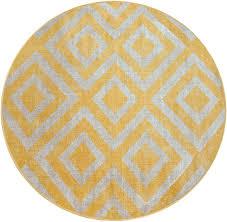paco home teppich poco 821 rund 7 mm höhe rauten design in und outdoor geeignet wohnzimmer