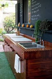 enchanting outdoor kitchen sinks utility with wooden counter and