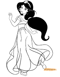 Jasmine Coloring Pages Aladdin 2 Disney Book To Print