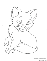 Cat Coloring Pages For Kids Kitten Printable