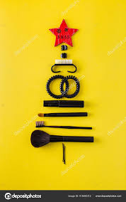 Items Where Year Is 2021 Beautiful Tree Made Of Makeup Artist Items On A Colored Background New Year 2021 415065312