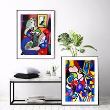 großhandel aquarell weltberühmten picasso frauen abstrakte malerei auf leinwand home hd print wohnzimmer deco wand kunst dekorieren poster