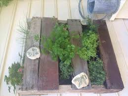 My Shelf Made To Hook Over Fence Hanging Pallet Garden