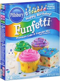 Funfetti Premium Cake Cupcake Mix With Candy Bits