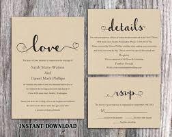 Diy Rustic Wedding Invitation Burlap Template Set Editable Word File Download Printable