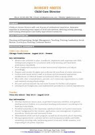 Child Care Director Resume Sample