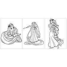 Rapunzel And Pascal The Witch Coloring Sheet Printable