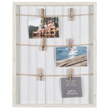 Pinnacle Collage Whitewash Pallet With Clips Picture Frame