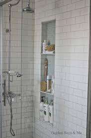golden boys and me shower niche tutorial