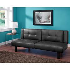 Rooms With Brown Couches by Mainstays Connectrix Faux Leather Futon Multiple Colors Walmart Com
