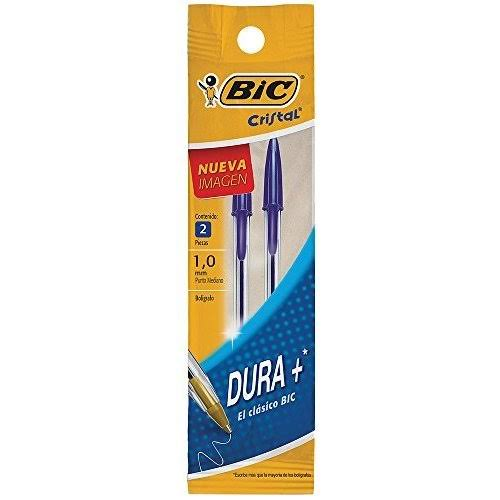Bic Salon Ball Pens, Medium, Blue - 2 pens