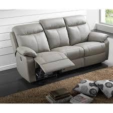 canapé 3 places relax electrique canapé cuir relax électrique 3 places gris jupiter meuble house