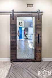 Custom Oak Sliding Mirrored Barn Door | Unhinged | Pinterest ... Barn Door Sliding Hdwaresliding Doors Hadware Photo Portfolio Items Archive Acme Bronze Bent Strap Closet Collection Including Modern Mirrored Bndoorhdwarecom Reclaimed Mirror With Hand Forged Hooks Empty Spaces Diy Interior The Home Depot Bedroom Hollow Core With For Homes_00042 25 Ingenious Living Rooms That Showcase The Beauty Of