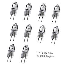 10 pack beelite halogen l q20 g4 cl 12v 20 watt t3 jc type 12