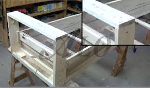 Free Plans To Build A Storage Bench by How To Build A Bench Frame Alo Upholstery Youtube
