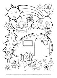 Coloring Pages Happy Campers Book By Thaneeya Mcardle How Will You Color In These Id Love