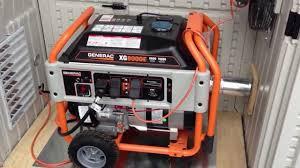 generac generator installed in a suncast garden shed for