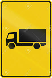 100 Truck Route Sign German Indication For A Stock Photo Picture And