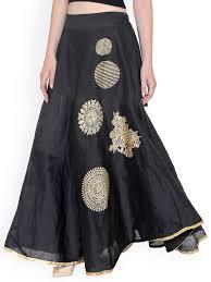 buy ira soleil women black printed skirt skirts for women myntra