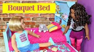 diy american doll bouquet bed trundle youtube
