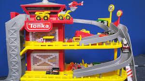 100 Tonka Mini Trucks Tinys Ultimate Playset Pack Rescue Response Station And Tune