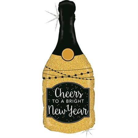 Glittering New Year Champagne Balloon