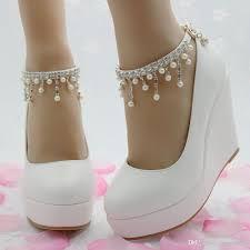 New Elegant High Heels Wedges Shoes Pumps Women Wedding Shoes Party
